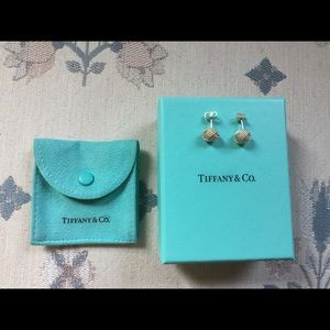 Tiffany & Co Sterling Silver Knot Earrings